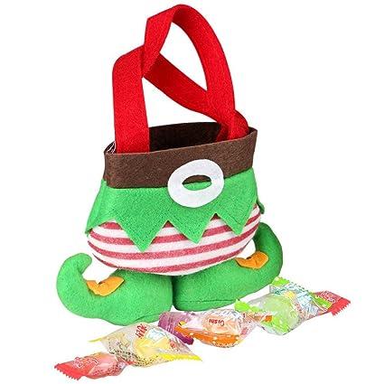 Bolsa para Candy de Navidad calcetines bolsa de regalo de elfo de Navidad Holiday boda suministros