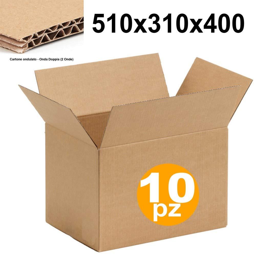 15883 Trade Shop 10 SCATOLO Scatola di Cartone 50X30X40 CM Doppia Onda Cartoni da per IMBALLAGGI