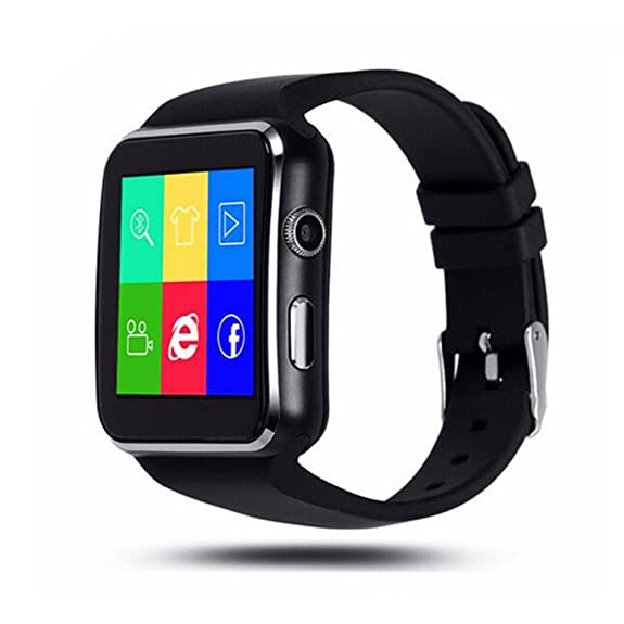 SZDLDT Excellent Bluetooth montre connecter android SIM reloj inteligente smart watch Gorgeous Bluetooth smartwatch (Black