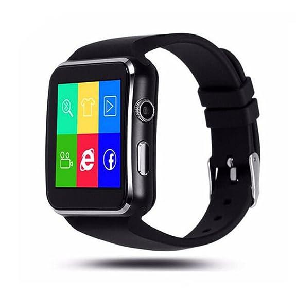 SZDLDT Excellent Bluetooth montre connecter android SIM reloj inteligente smart watch Gorgeous Bluetooth smartwatch (Black