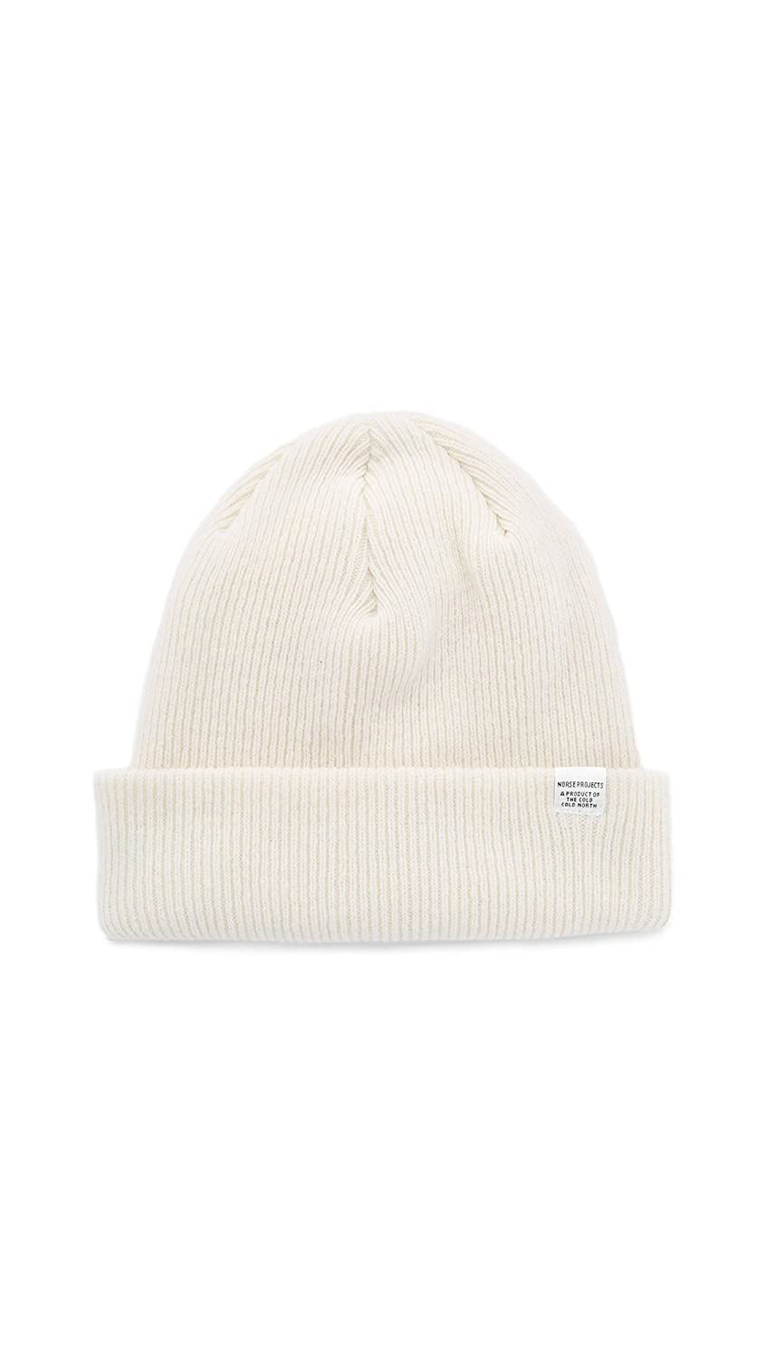ca8fd86c Norse Projects Men's Norse Beanie Hat, Ecru, One Size at Amazon ...