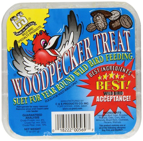 Suet Treat - C & S Products Woodpecker Treat, 12-Piece