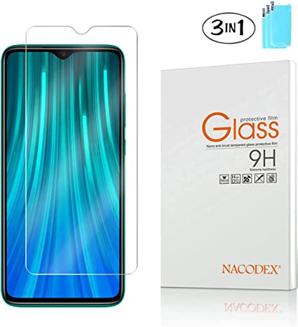 Bubble Free Anti Scratch 5 Pack Nacodex for Xiaomi Redmi Note 8 Pro Tempered Glass Screen Protector