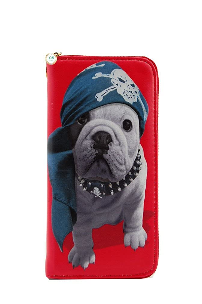 Puppy Wristlet Wallet With...