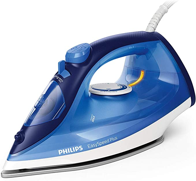 Philips EasySpeed Plus Iron with 150g Steam Boost, 2400W and Ceramic Soleplate - Blue/White - GC2145/29