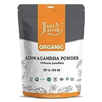 DD store 100% Organic Ashwagandha Powder- Withania Somnifera- USDA Certified Organic- 227g - Ayurvedic Herbal Supplement That Promotes Vitality & Strength - Support for Stress-Free Living
