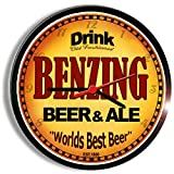 BENZING beer and ale cerveza wall clock