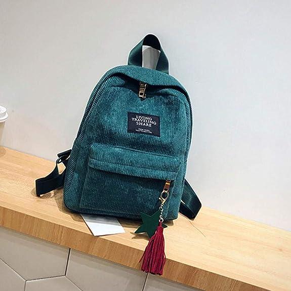 65c36d081c97 Classic Wobuoke Women's Fashion Canvas Tassel School Bags Travel ...