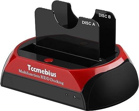 Tccmebius Estación de Acoplamiento del Disco Duro, TCC-S868-DE USB ...