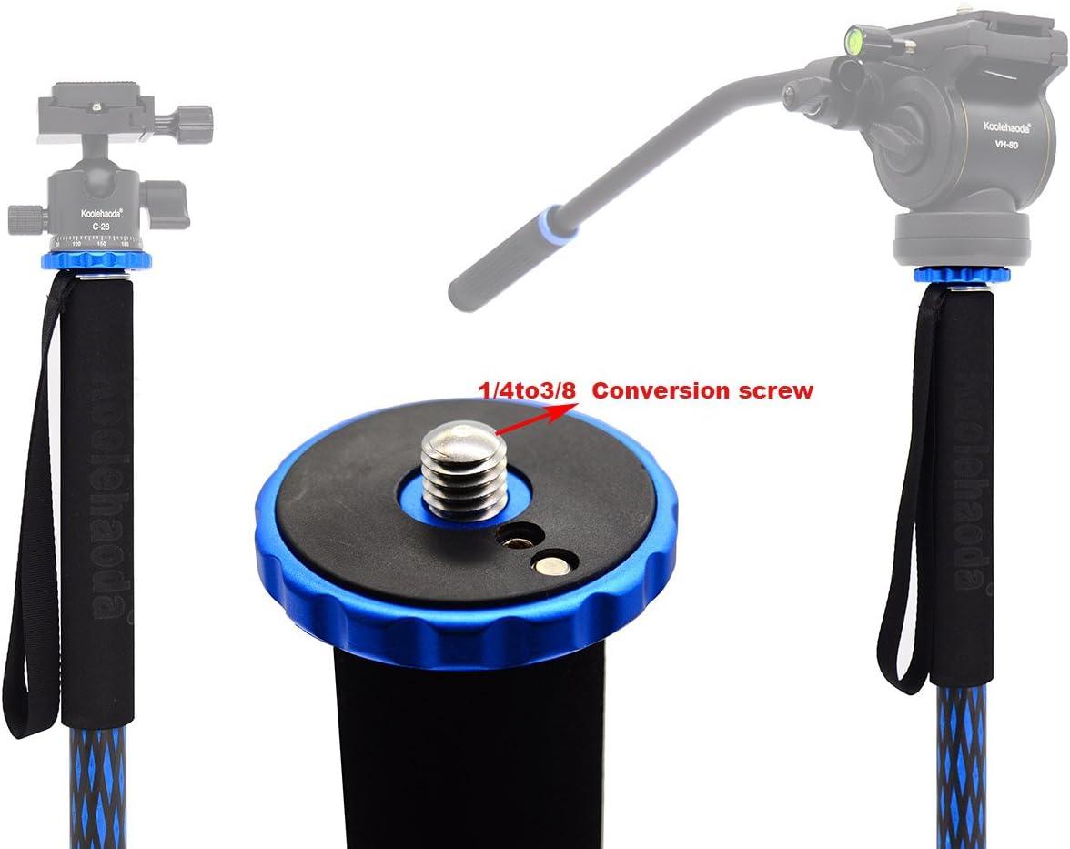 Koolehaoda 64-inch Camera Aluminium Monopod for All Canon Sony Nikon