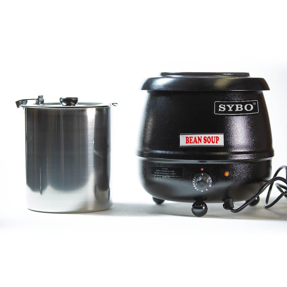 SYBO SB6000 SB-6000 Soup Kettle, 10.5 Quarts, Black and Sliver by SYBO (Image #3)