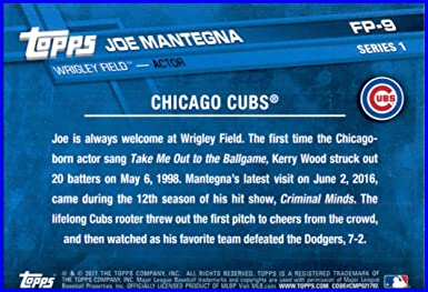 2017 Topps First Pitch #FP-9 Joe Mantegna Baseball Card Chicago Cubs
