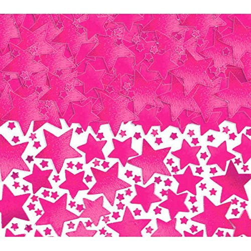 Amscan Metallic Stars Confetti, 2 1/2 oz., Pink (Pink Confetti Star)