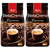 Melitta Coffee BellaCrema Espresso, Whole Beans, Pack of 2, 2 x 1000g