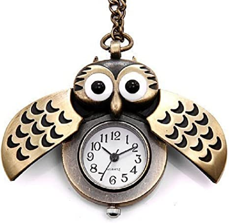 Antique Owl Chain Watch