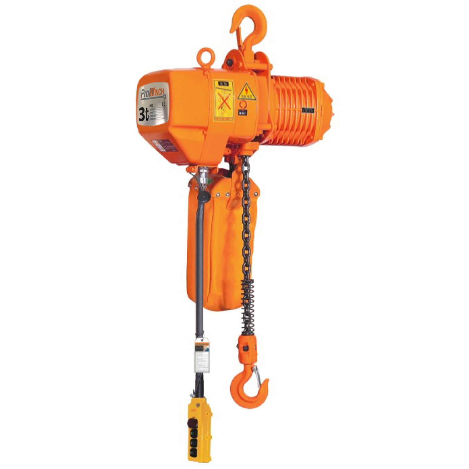 BestEquip 3 Phase 220V Electric Chain Hoist 2 Ton 4400Lbs 10ft Lift Height Electrical Hook Mount Chain Hoist G80 Chain Hoist Lift Electric Hoist Double Chain with Pendant Control