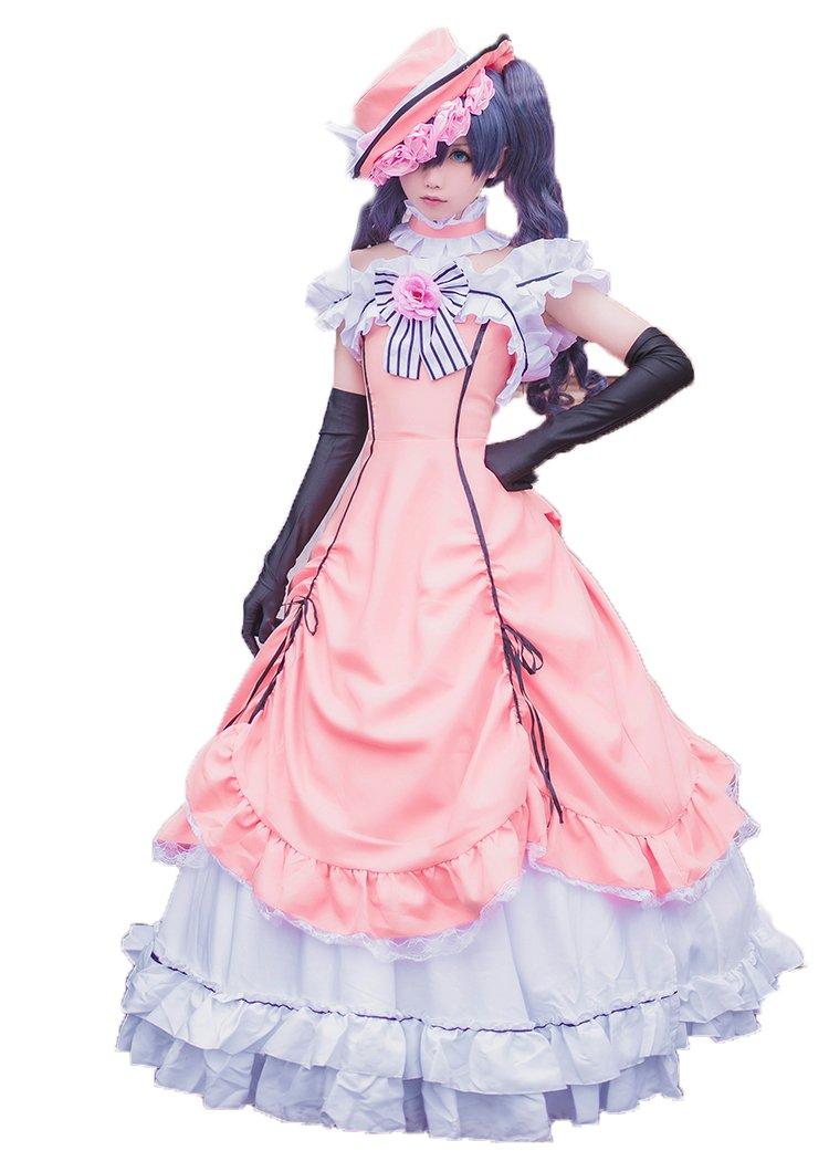 コスチューム 変身 なりきり   お嬢様の衣装+ウィッグ風  お祭り 学園祭用コスプレ服 (Sサイズ) Sサイズ  B06XRVF116