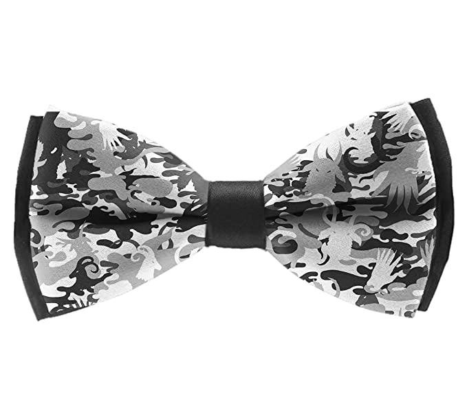 42e16d0389a4 Men's Pre Tied Bow Ties for Wedding Party Adjustable Bowties(animal  antelope grey camouflage camo