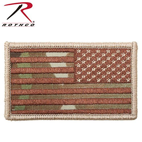Rothco Reverse American Flag Patch/Multicam/Hook