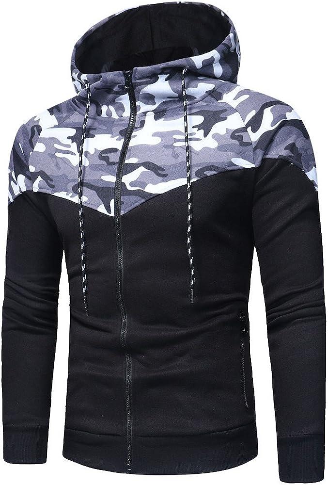 Mens Autumn Winter Sports Fittness Suit Tracksuit Camouflage Sweatshirt /& Pants Sets