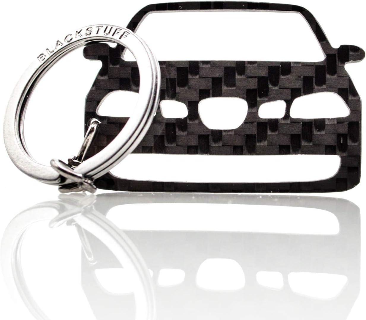 BlackStuff Carbon Fiber Keychain Keyring Ring Holder Compatible with Ibiza MK3 6L FR Cupra 2002-2008 BS-833
