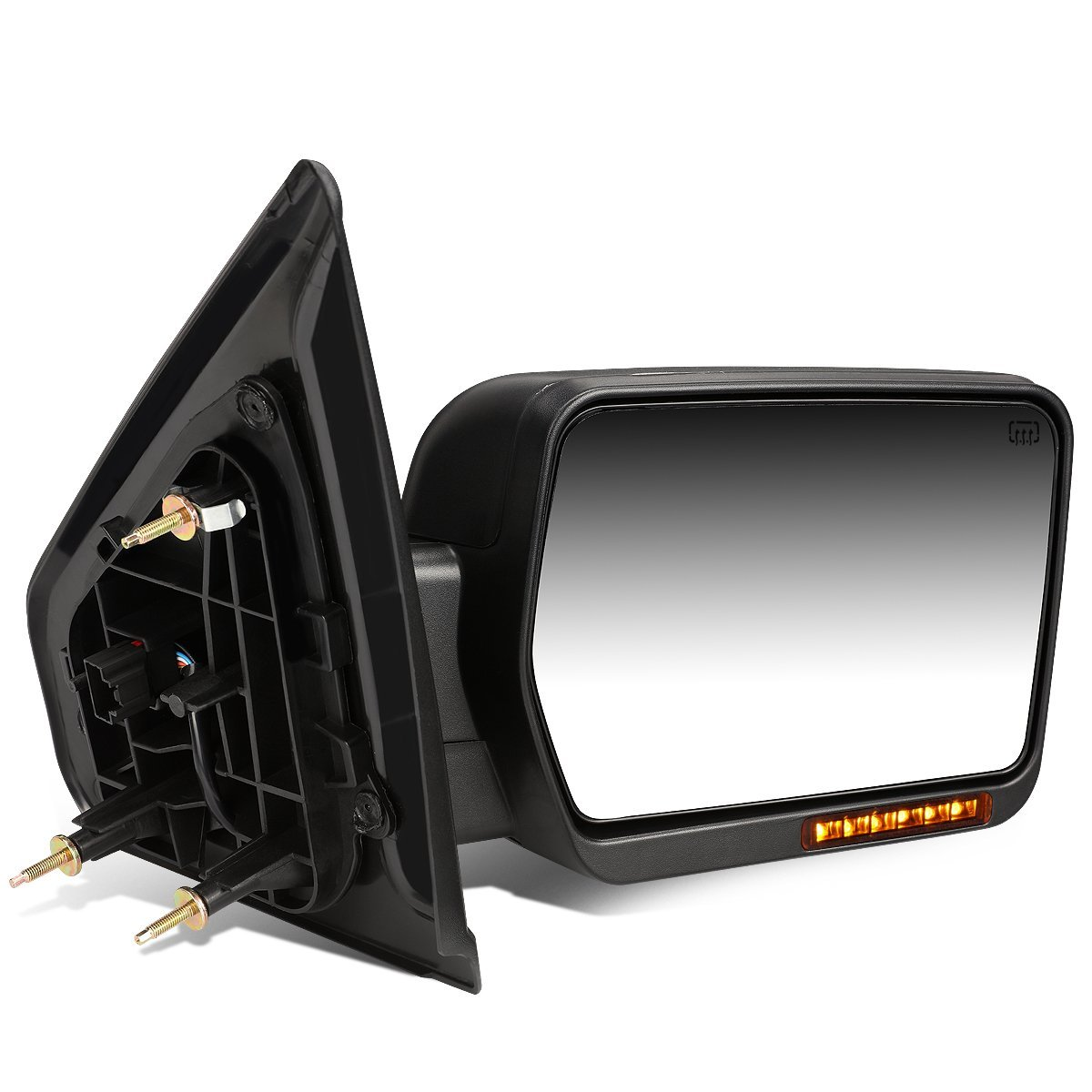 DNA Motoring TWM-019-T888-BK-AM-R Towing Side Mirror Assembly Right Side Only