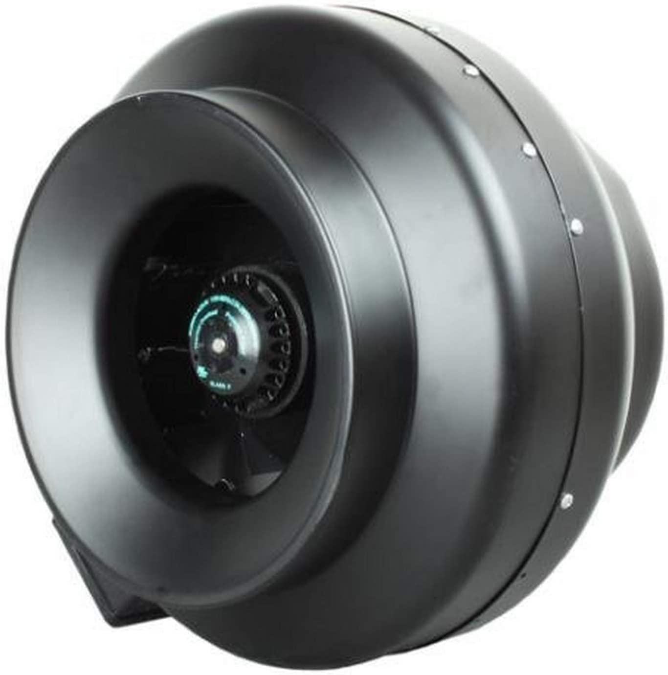 Hurricane Inline Centrifugal Fan, High Performance, Commercial-Grade for Ventilation, 1060 CFM - ETL Listed, 12-Inch, Black