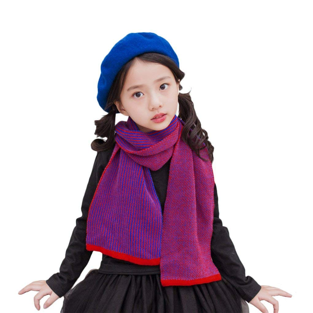 IPENNY Kids Toddlers Winter Warm Wool Knitted Scarf for Boys Girls Children