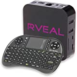 Rveal Media TV Tuner & Mini Touchpad Remote [Android, 4K, Streaming Box]