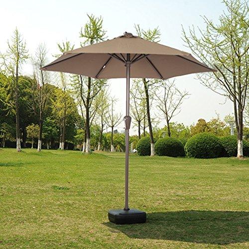 TLMY Roman Umbrella Garden Umbrella Beach Umbrella Sun Umbrella Outdoor Umbrella Stall Umbrella Umbrella Umbrella Umbrella (Color : Khaki)