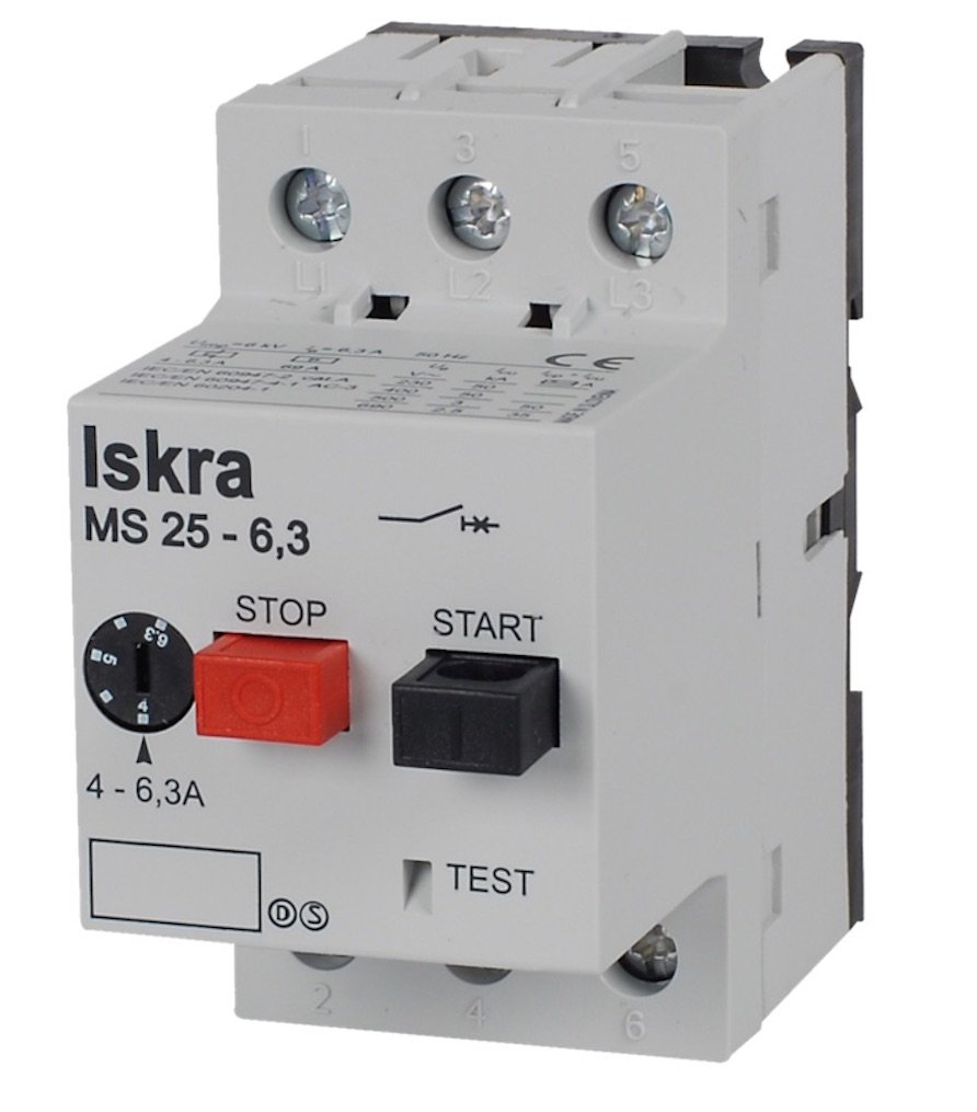 Iskra MS25-1 0.63 Amp to 1.0 Amp Motor Protection Switch