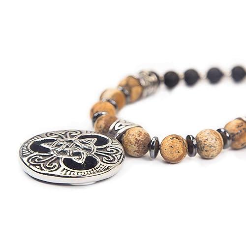 Triqueta Jasper (arena) - SKULLS AND SPIRITS - Collar de amuleto ...