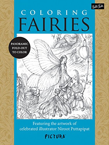 Adult Fairy Dresses - Coloring Fairies: Featuring the artwork of