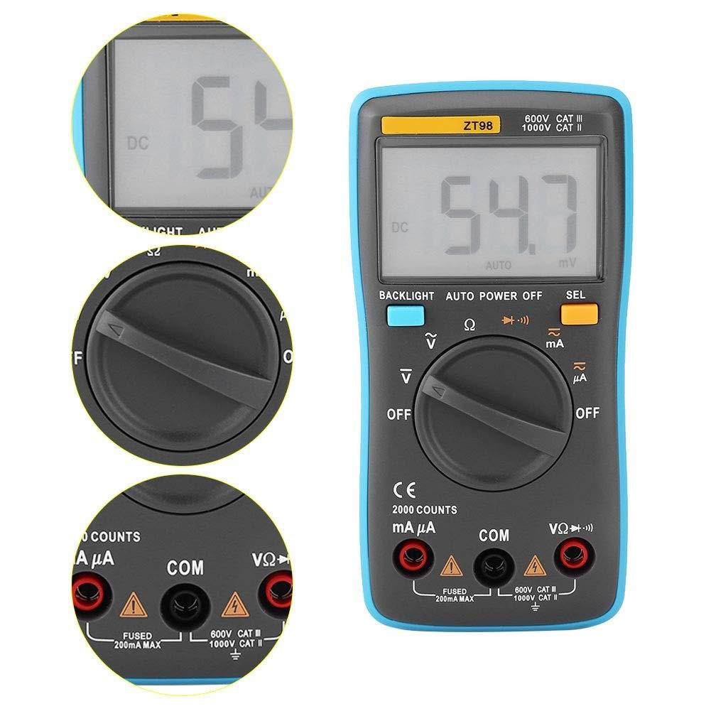 Auto Ranging Digital Multimeter AC/DC Voltage Current Resistance ...