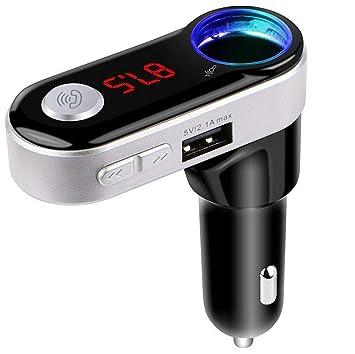 FM Transmisor Bluetooth Auto, auledio Wireless Radio Adaptador ...