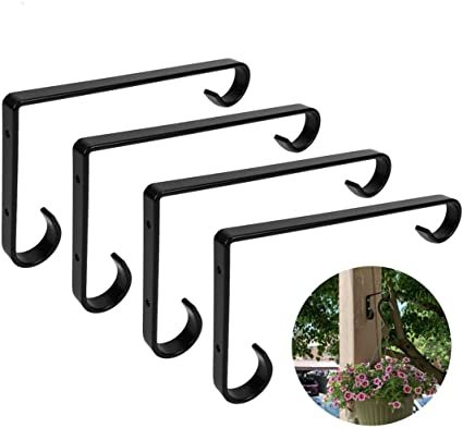 2 Pack Bird Feeders Upgrade White XIDING Premium Hand Forged Straight Hook Wind Chimes for Lanterns 12 Inch Planters Decorative Wall Hook Hanging Plant Bracket