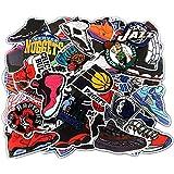 NBA チームロゴ バスケットボール・スニーカー シューズ イラストデザイン[防水加工]ステッカー / 50枚セット