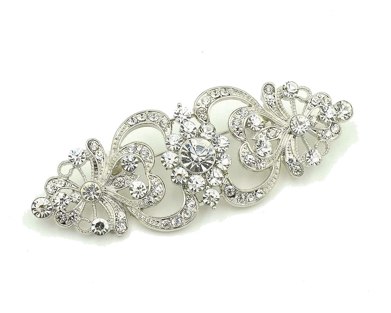 MultiWare Brooch Pin BR296 Vintage Style Bridal Wedding Bouquet Shiny Flower vGAC5