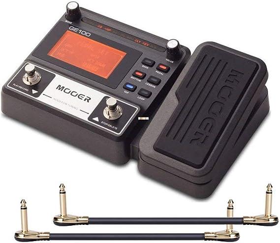 Mooer Ge100 Pedal Multiefectos Para Guitarra Con 2 Cables De Efecto Getaria Musical Instruments Amazon Com