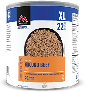 Mountain House Cooked Ground Beef | Freeze Dried Survival & Emergency Food | #10 Can | Gluten-Free