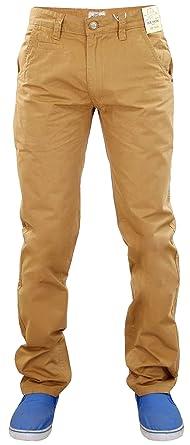 Jacksouth - Pantalones chinos de algodón, diseño recto, para hombre