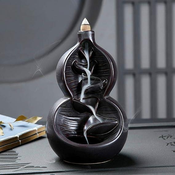 逆流香炉インテリア装飾家庭用装飾セラミック香炉工芸品像ギフト,フルーク・豊原 - レトロ