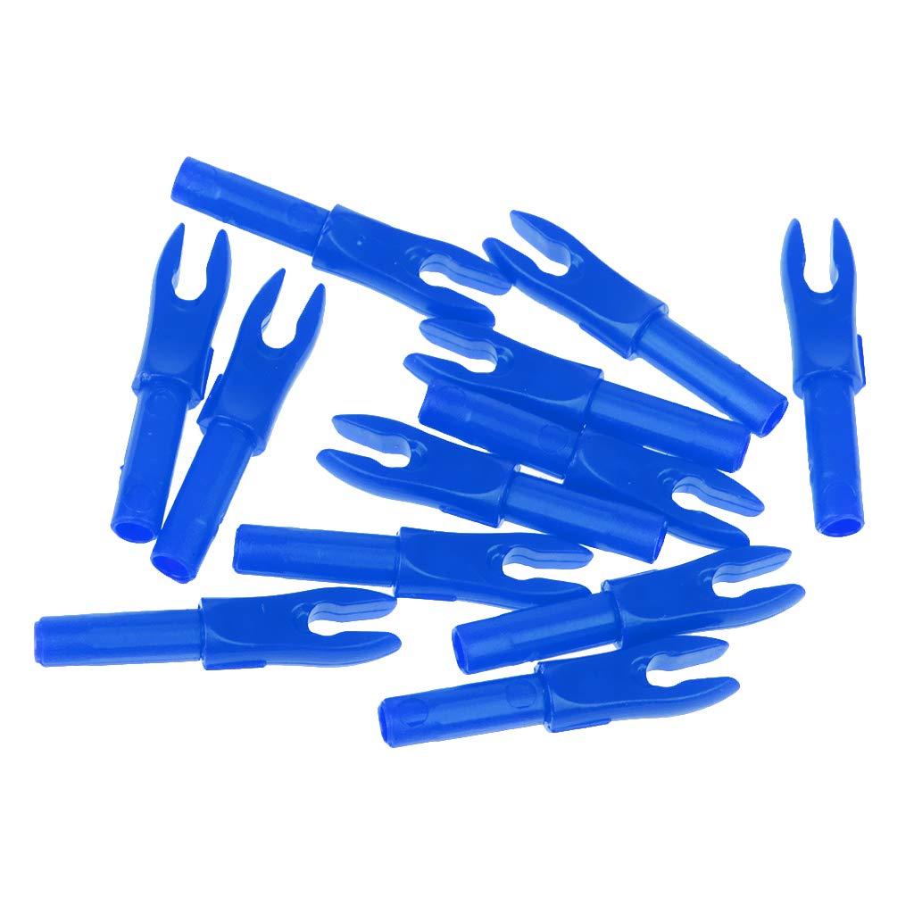 P Prettyia 36 x 4.2mm Bogenschie/ßen Pfeil Nocke Kunststoff Nocke Bogen Zubeh/ör blau