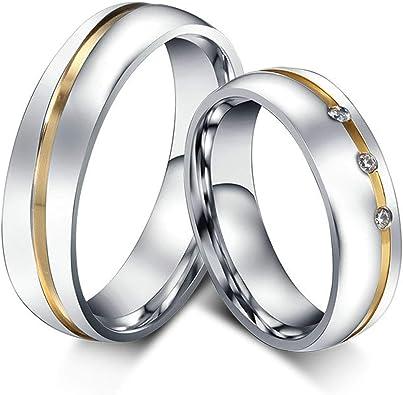 1 Ringe Eheringe  Freundschaftsringe Verlobungsringe Edelstahl