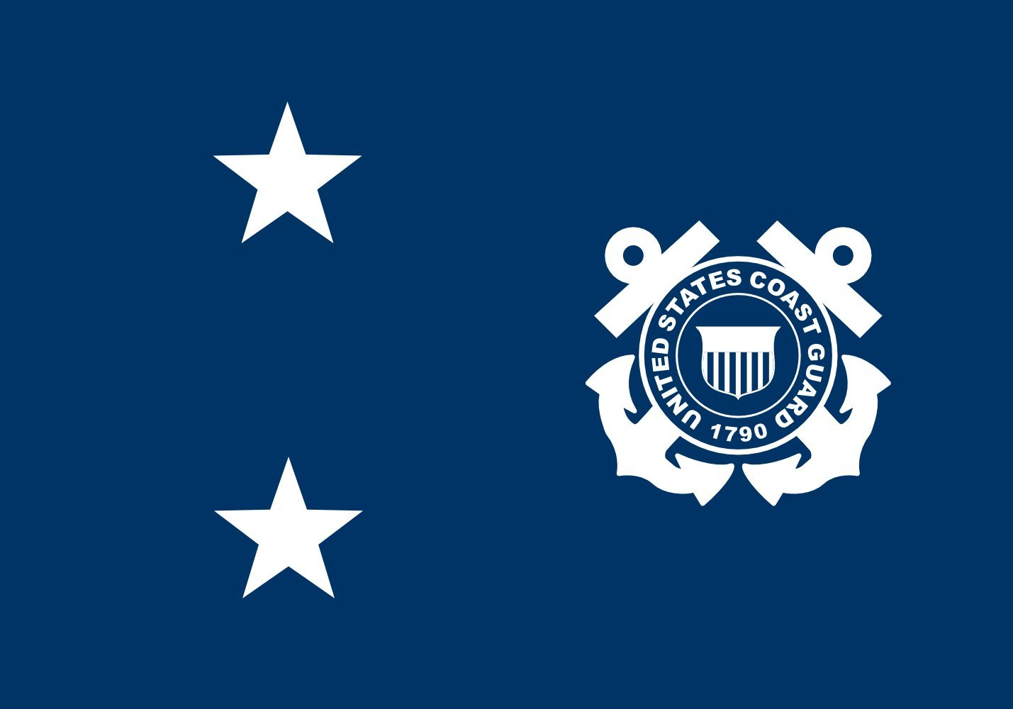 magFlags Large Flag Rear Admiral in The United States Coast Guard | Landscape Flag | 1.35m² | 14.5sqft | 90x150cm | 3x5ft - 100% Made in Germany - Long Lasting Outdoor Flag