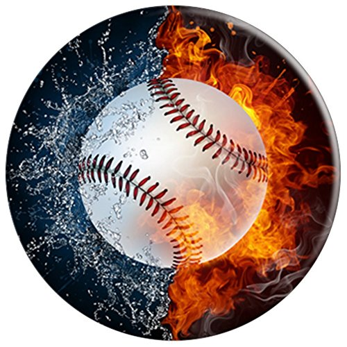 Baseball Fire Water Zen Yin Yang Taoism Taoist Pop Socket - PopSockets Grip and Stand for Phones and Tablets