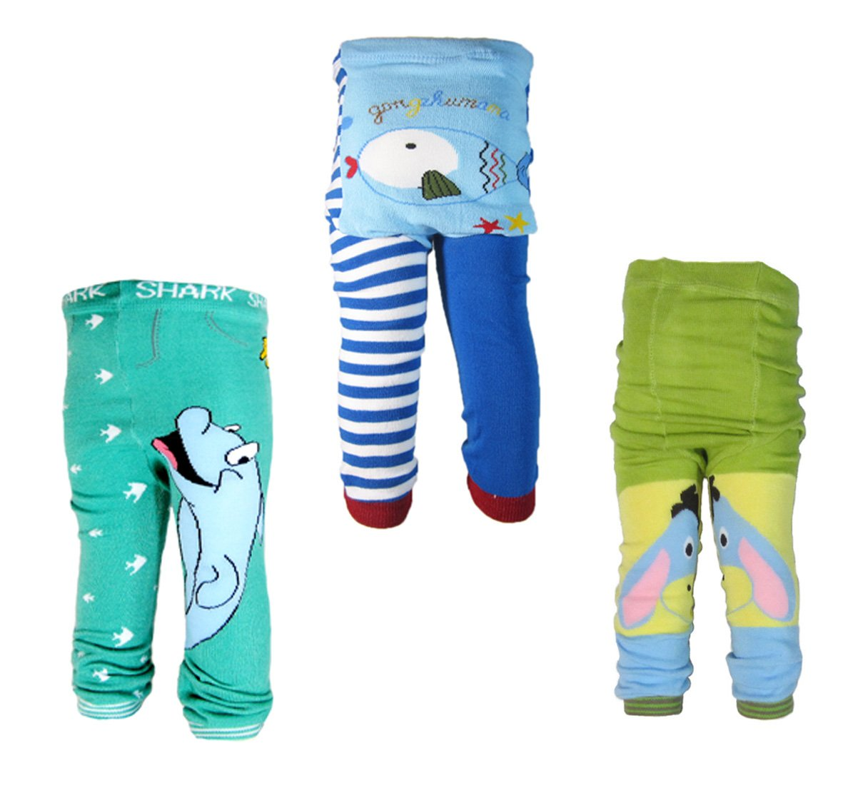 3 Pants 0-24 Months Baby Boys Toddler Leggings trousers Knitted pants N5M11V2