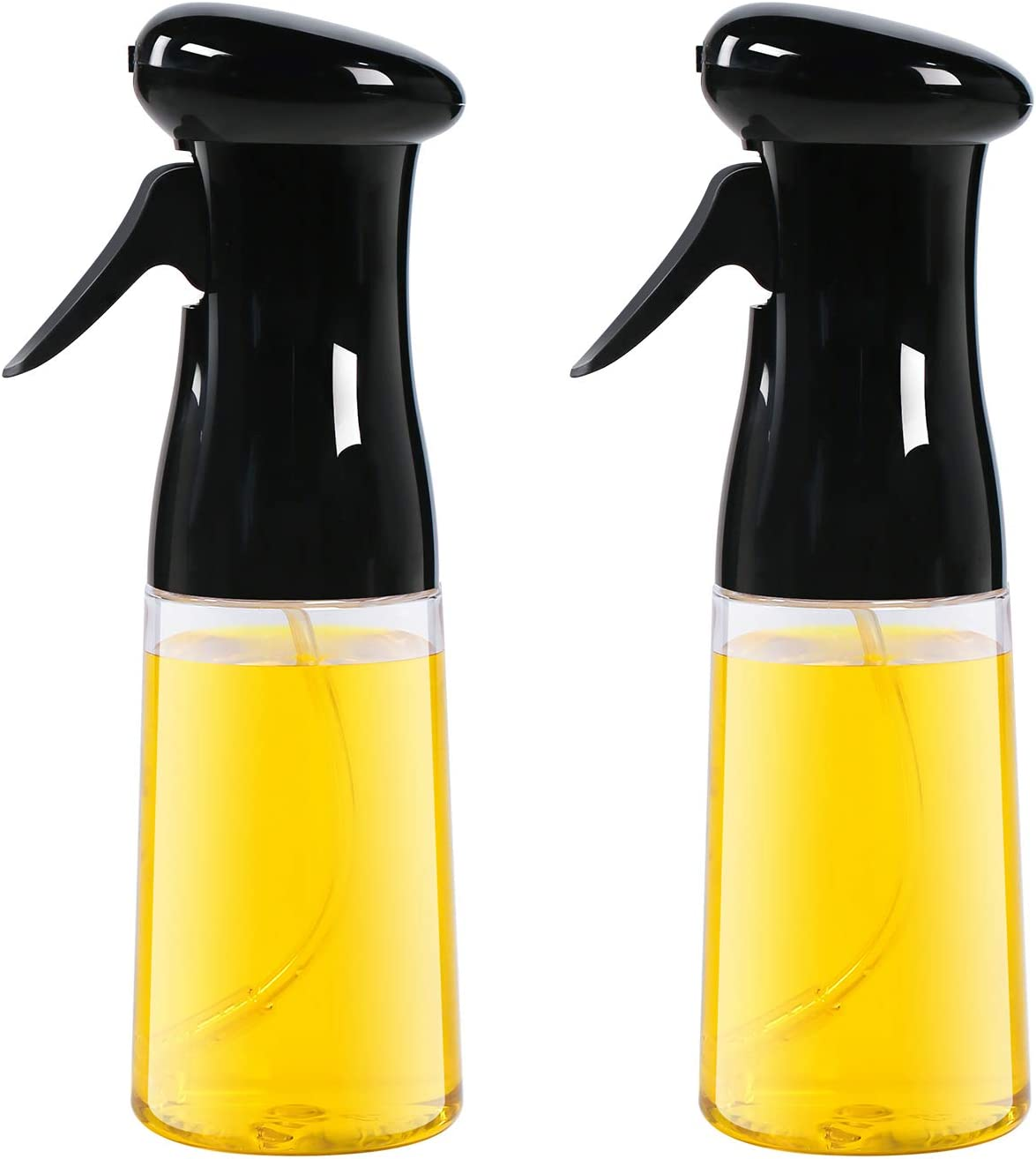 AMINNO Oil Sprayer for Cooking 2 Pack, Oil Sprayer Mister for Air Fryer, Versatile Oil Spray Bottle for Grilling Roasting Baking Salad BBQ, Food Grade BPA free, Ergonomically Designed 7oz/200ml