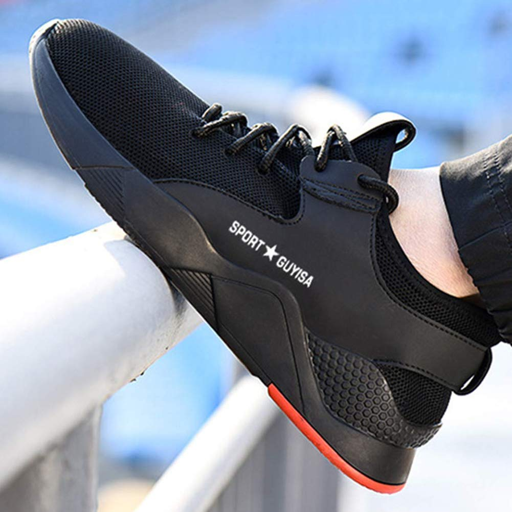 Superwl Calzado de Seguridad Hombre Trabajo s3 Comodos Zapatillas de Trabajo con Punta de Acero Zapatos de Industria Unisex