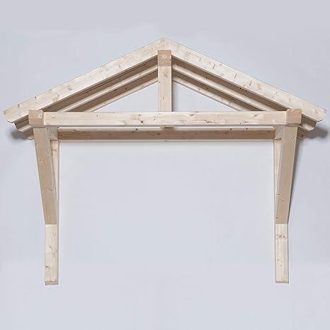 Tuga – Madera Tech Leimholz vigas 100 x 100 mm Satteldach Haustürvordach Puerta Haustür Überdachung Vordach madera: Amazon.es: Bricolaje y herramientas